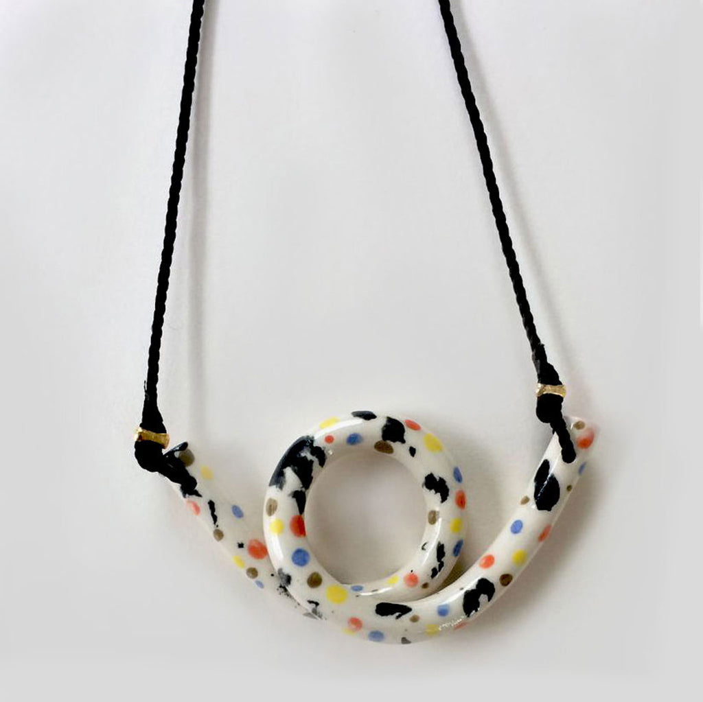 Aliyah Hussain Speckled Loop Necklace