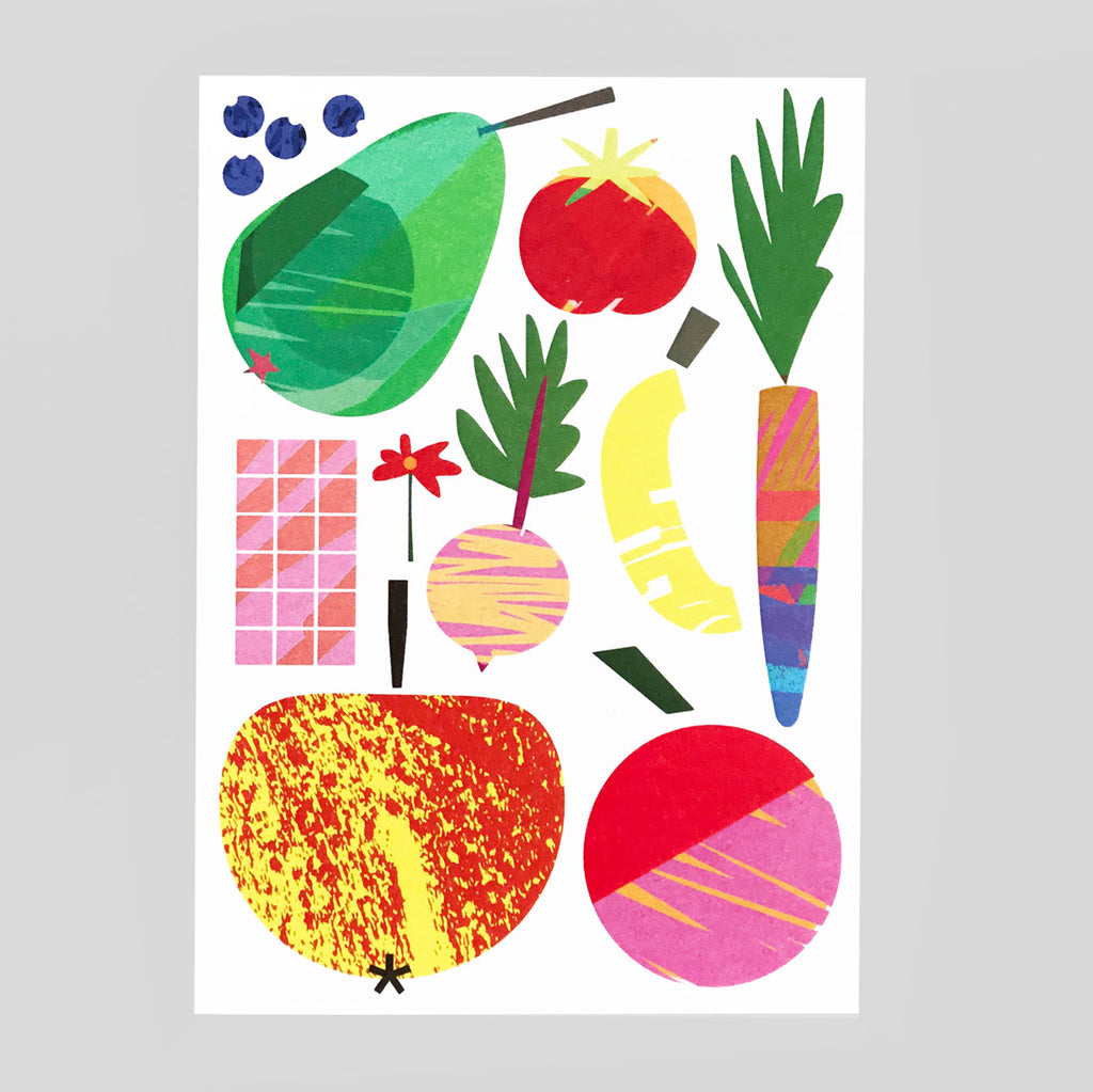 Lottie Hall | Fruit And Things Card | Colours May Vary