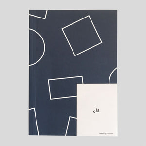 Ola Layflat Weekly Planner - Navy - Colours May Vary