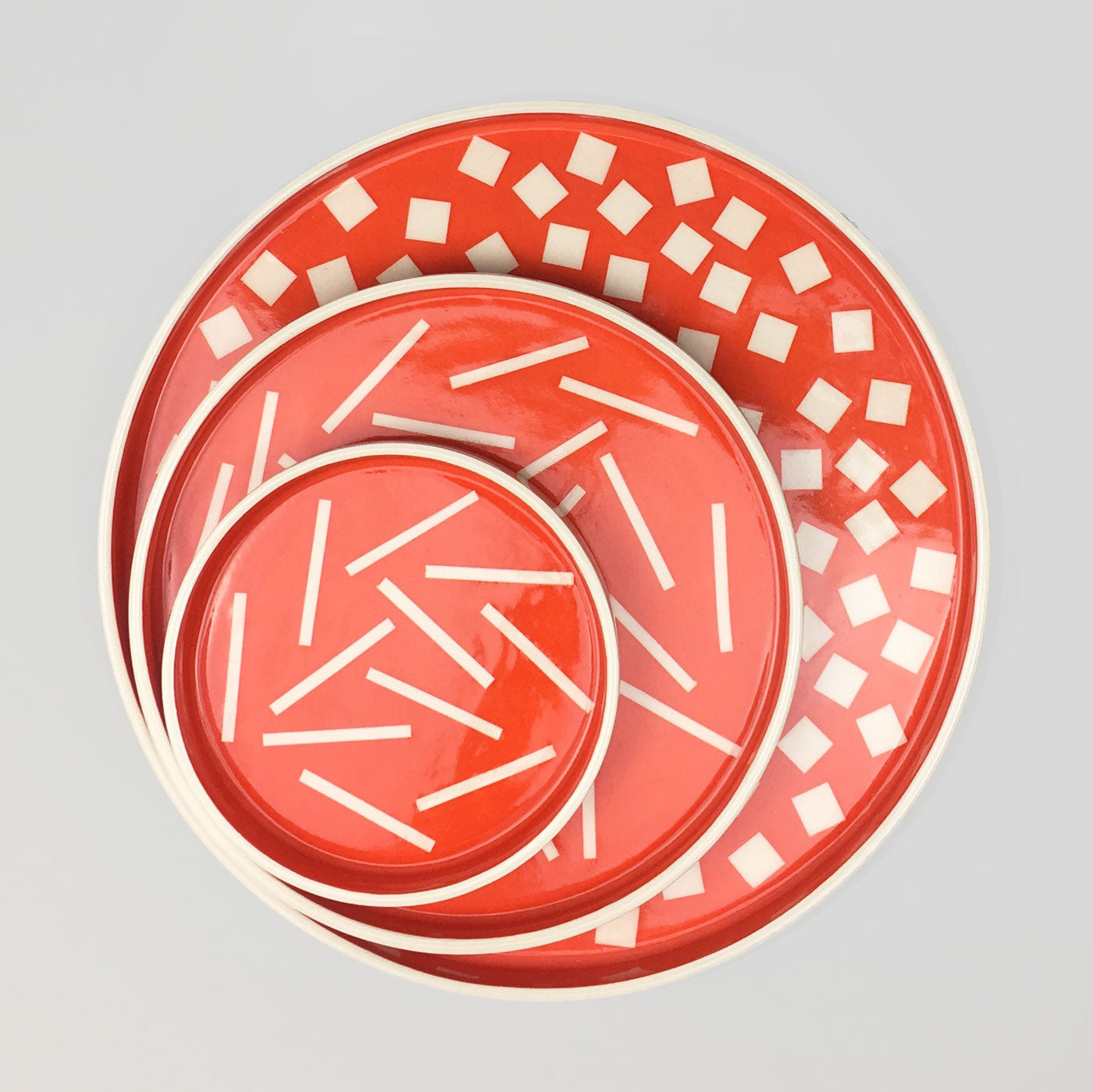 Sunken Studios Small Dish - Dash Orange