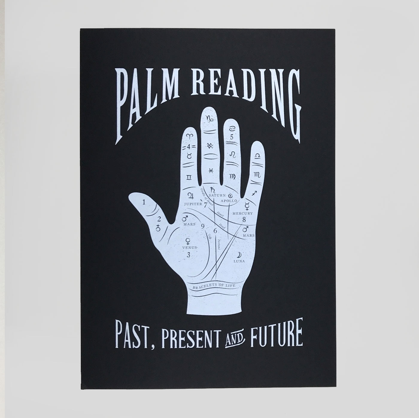 palmistry screenprint by Passport for Phantasm