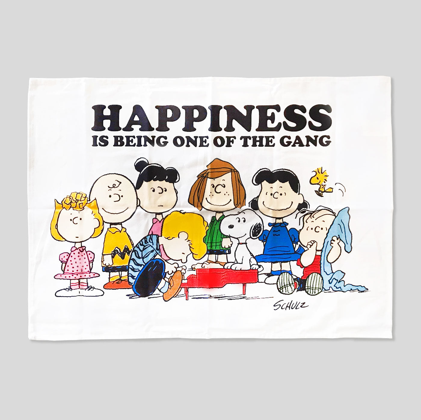 Peanuts Tea Towel - Happiness Is Being One Of The Gang - Colours May Vary