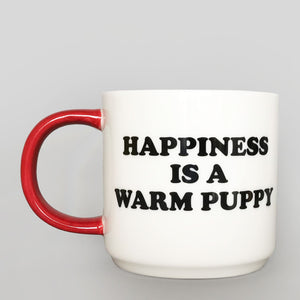 Peanuts Mug -Happiness Is A Warm Puppy - Colours May Vary