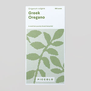Piccolo Seeds - Oregano 'Greek'