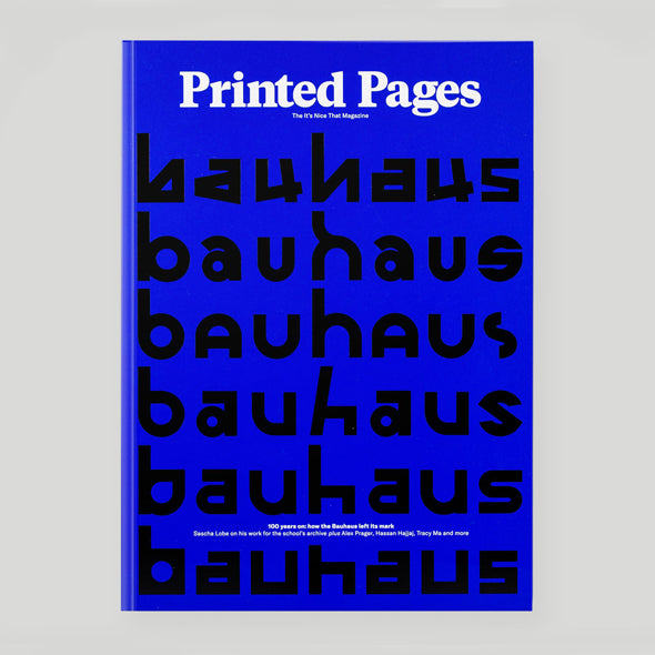 Printed Pages Magazine - Autumn / Winter 2018 blue cover