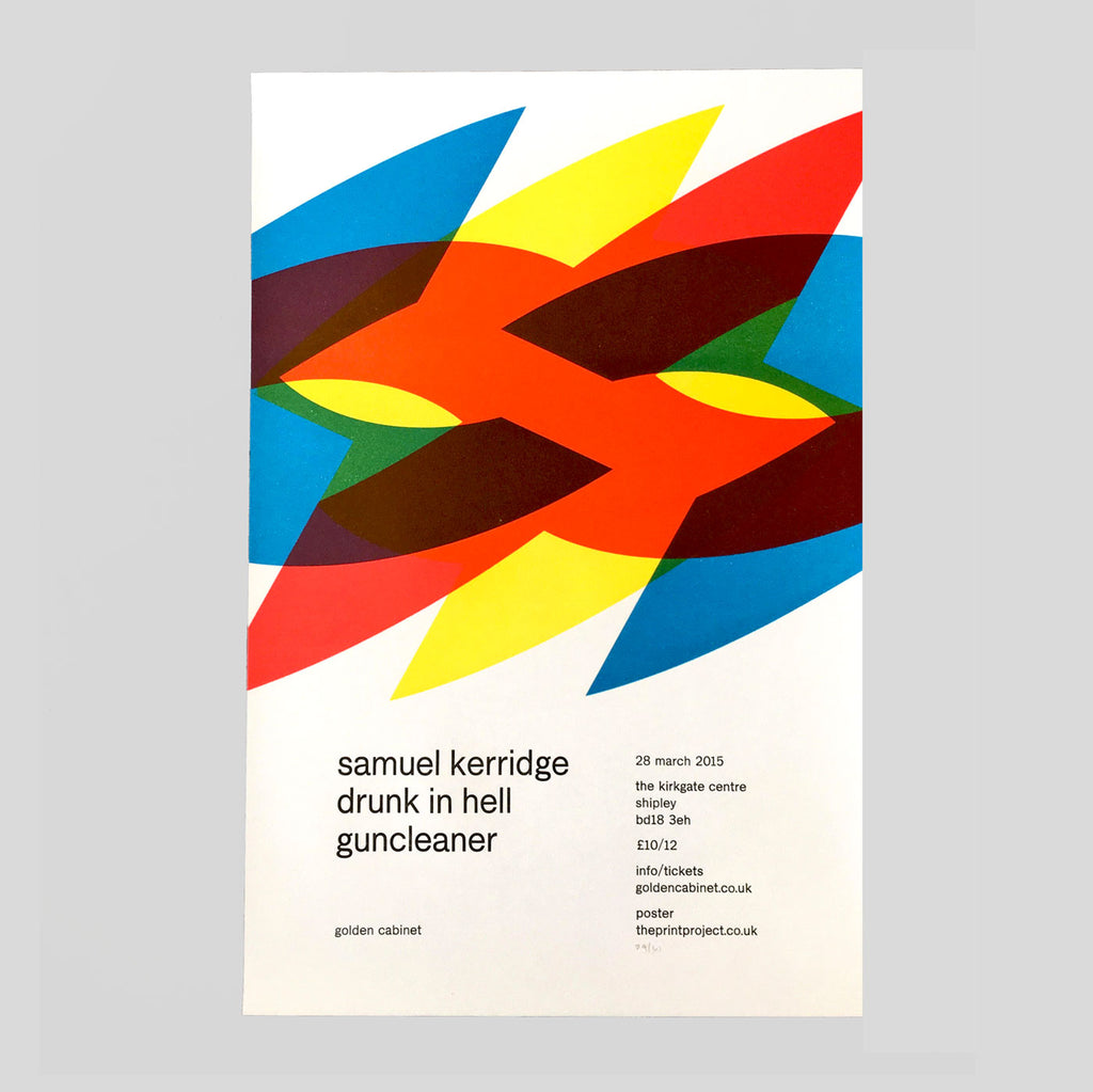 Samuel Kerridge Letterpress Print by The Print Project for Golden Cabinet