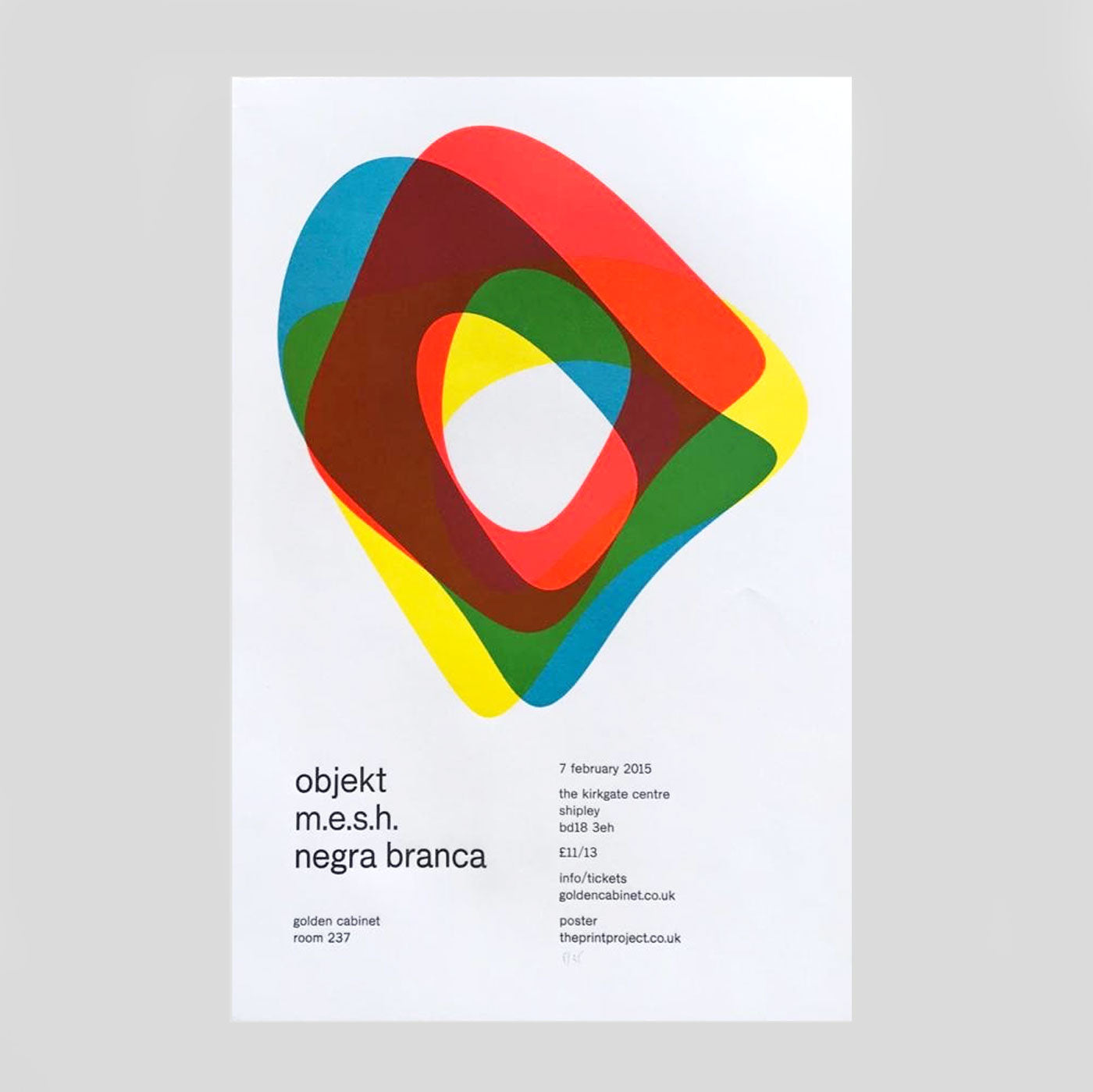 Objekt Letterpress Print by The Print Project for Golden Cabinet