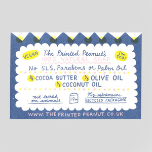 The Printed Peanut  | Cocoa Butter Soap Bar | Colours May Vary