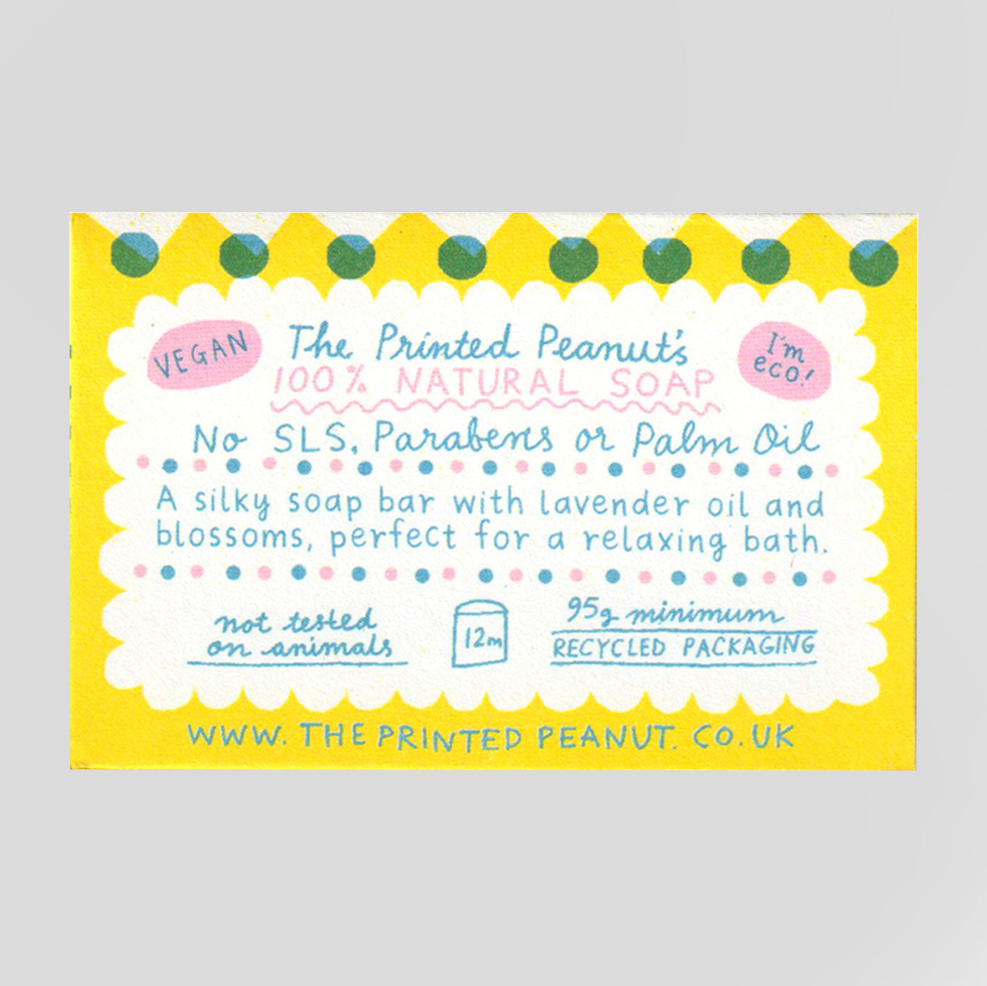 The Printed Peanut  | Lavender Bath Soap Bar | Colours May Vary