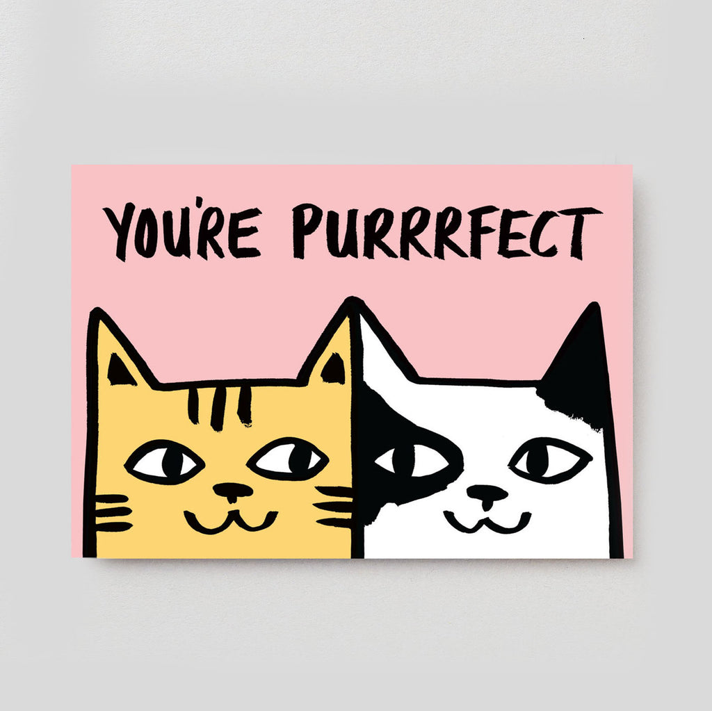 Alice Bowsher For Wrap - You're Purrfect Card