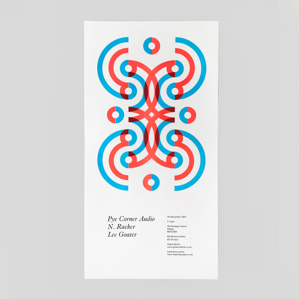 Pye Corner Audio Letterpress Print by The Print Project for Golden Cabinet - Colours May Vary