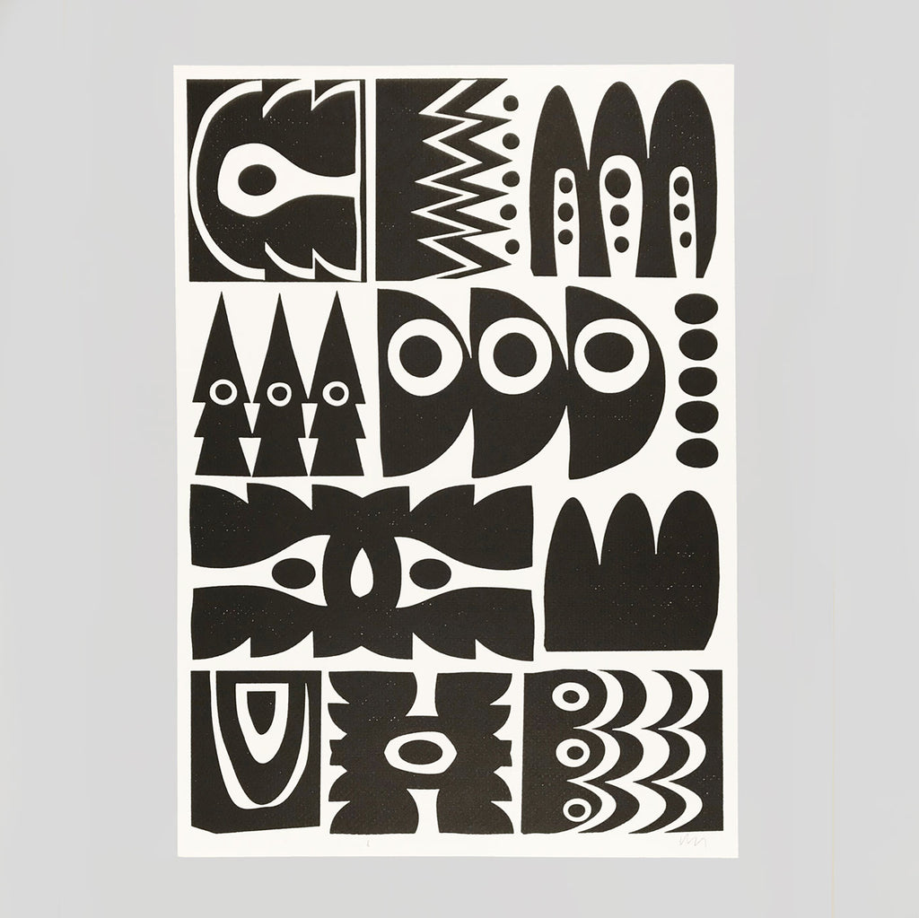 'Relics' Letterpress Print by The Print Project