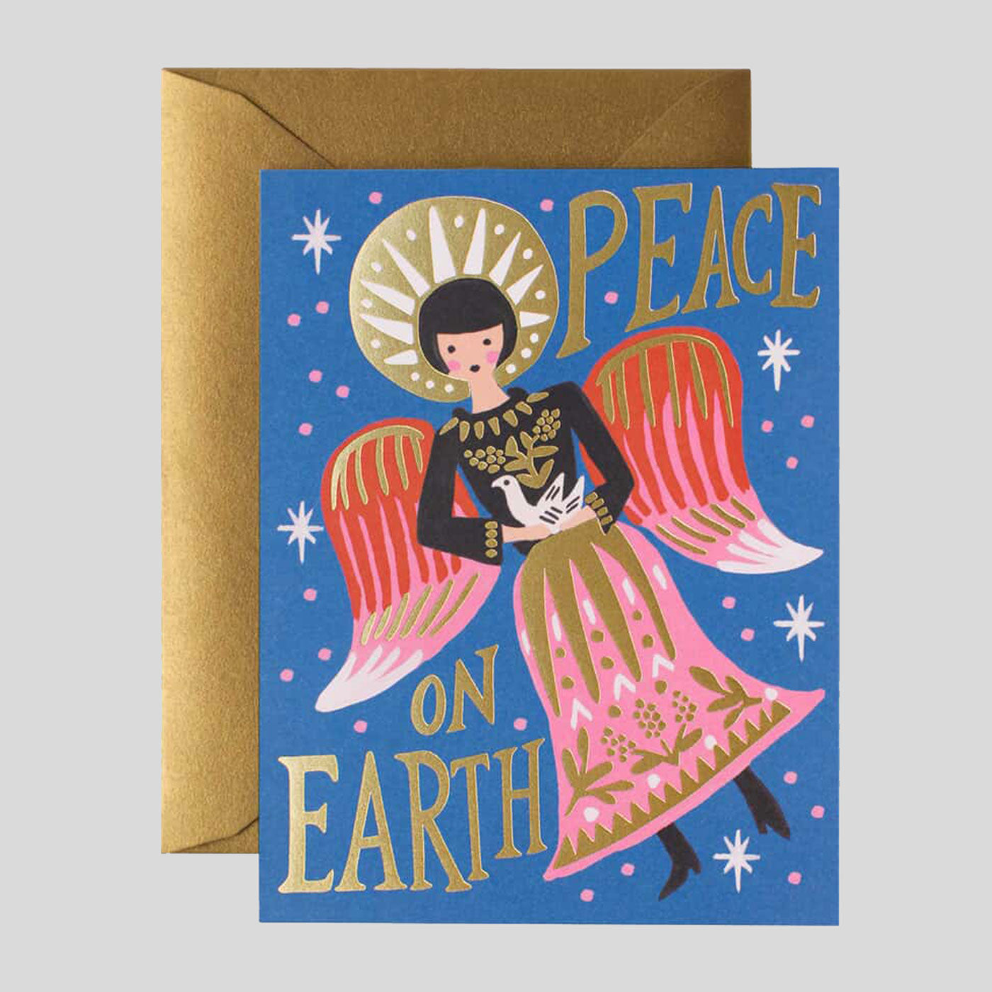 Rifle Paper Co. |  Peace On Earth Angel Card | Colours May Vary