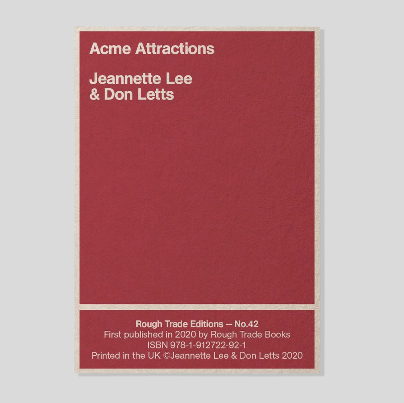 Acme Attractions | Jeannette Lee & Don Letts | Colours May Vary