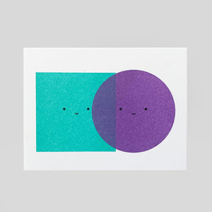 Scout Editions - Colour Blocking Mini Riso Card