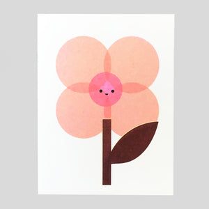 Scout Editions - Cherry Blossom Mini Riso Card - Colours May Vary