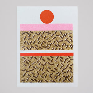Scout Editions - Cake Mini Riso Card - Colours May Vary