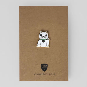 Lucky Cat Pin by Scout Editions - Colours May Vary