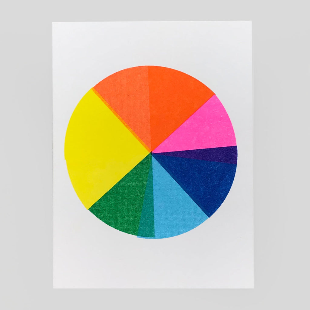 Scout Editions - Colour Wheel Mini Riso Card - Colours May Vary