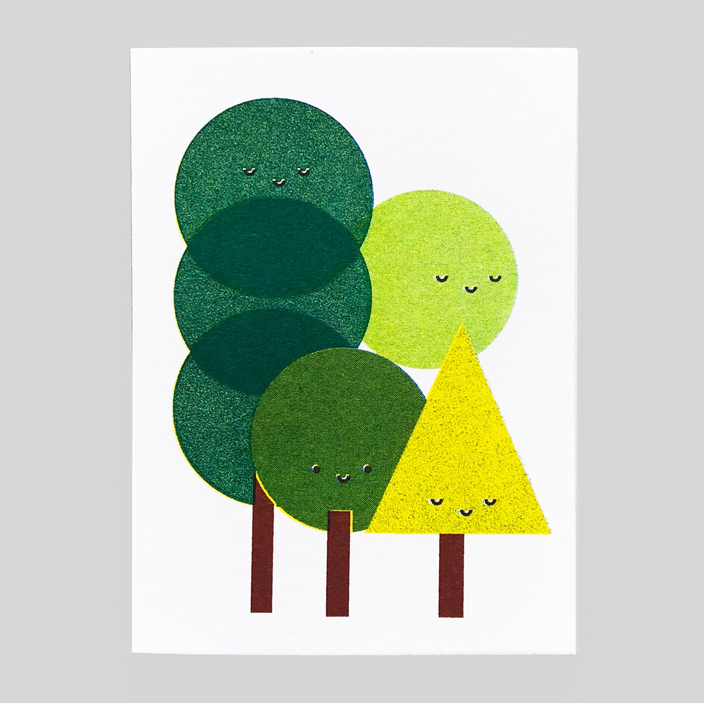 Scout Editions - Forest Bathing Mini Riso Card. - Colours May Vary