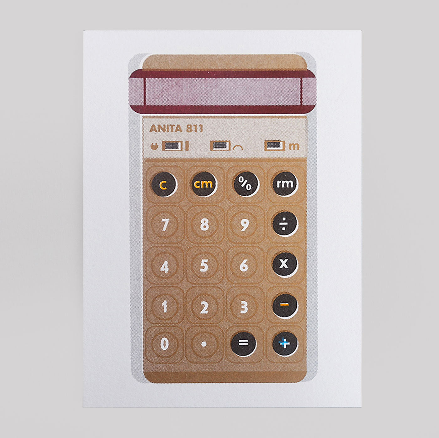 Scout Editions - Gold Pocket Calculator Riso Card - Colours May Vary