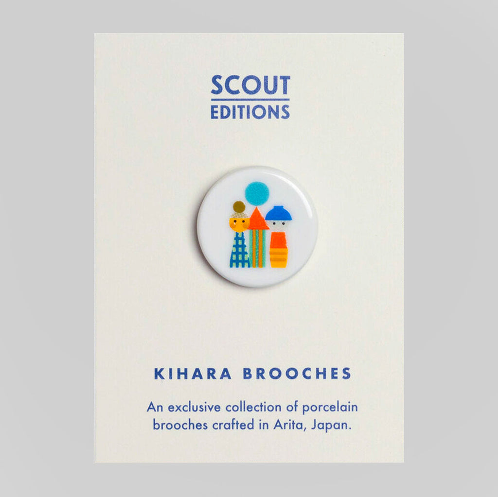 Scout Editions X Kihara Porcelain Brooch | Kokeshi | Colours May Vary