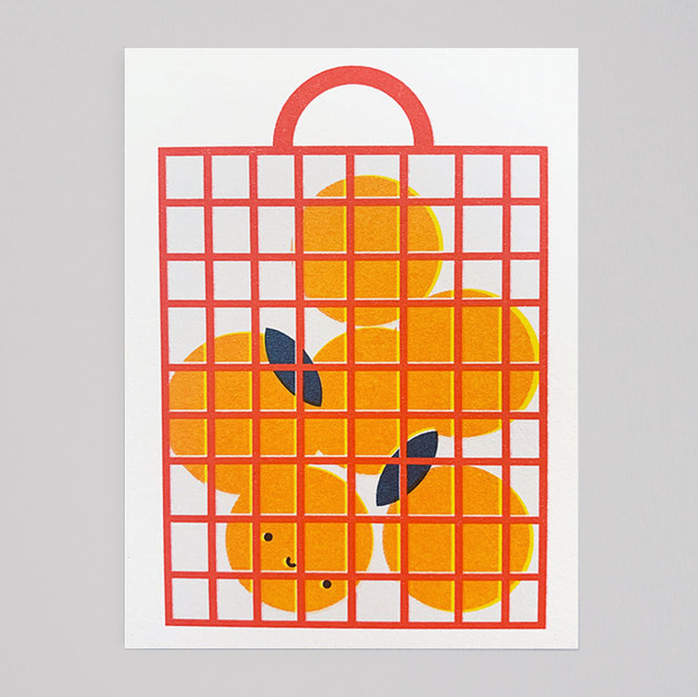 Scout Editions - Seville Orange Bag Mini Riso Card - Colours May Vary