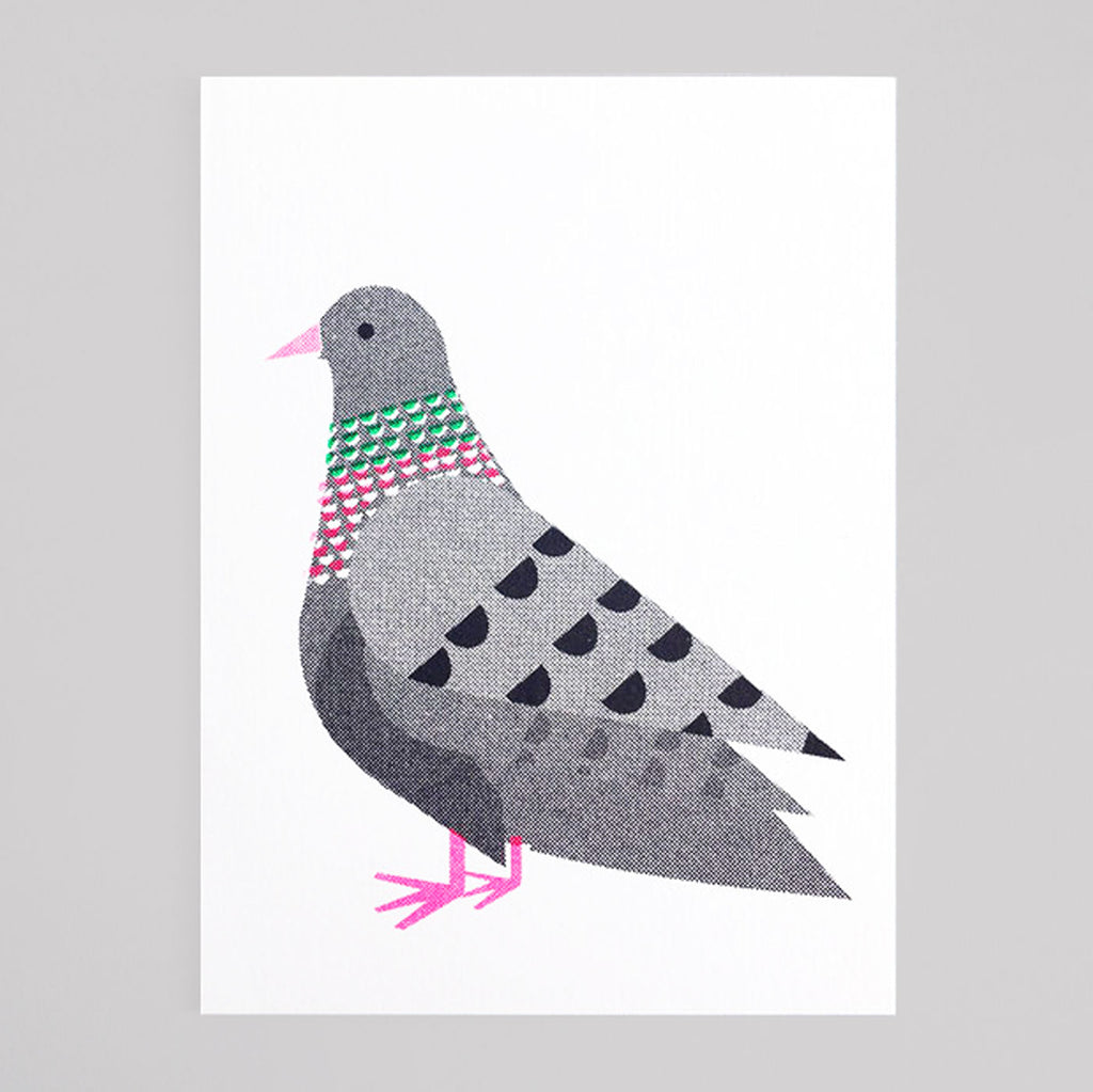 Scout Editions - Pigeon Mini Riso Card - Colours May Vary
