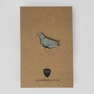 Penny Pigeon Pin by Scout Editions - Colours May Vary