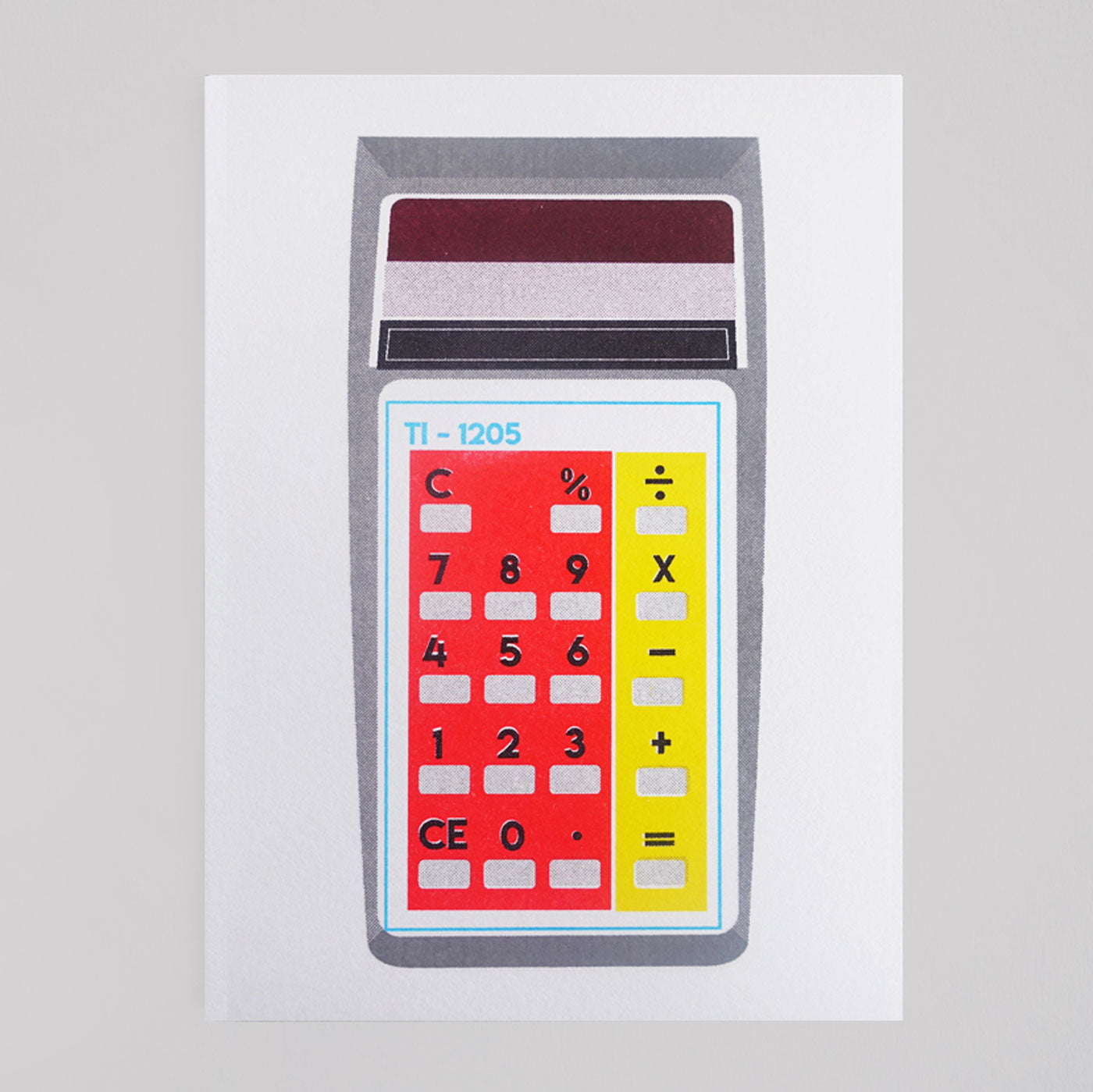 Scout Editions - Red/Yellow Pocket Calculator Riso Card - Colours May Vary