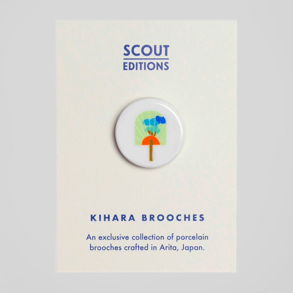 Scout Editions X Kihara Porcelain Brooch | Uchiwa Fan | Colours May Vary