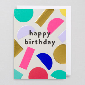 Throwing Shapes Birthday Card by Cozy for Lagom