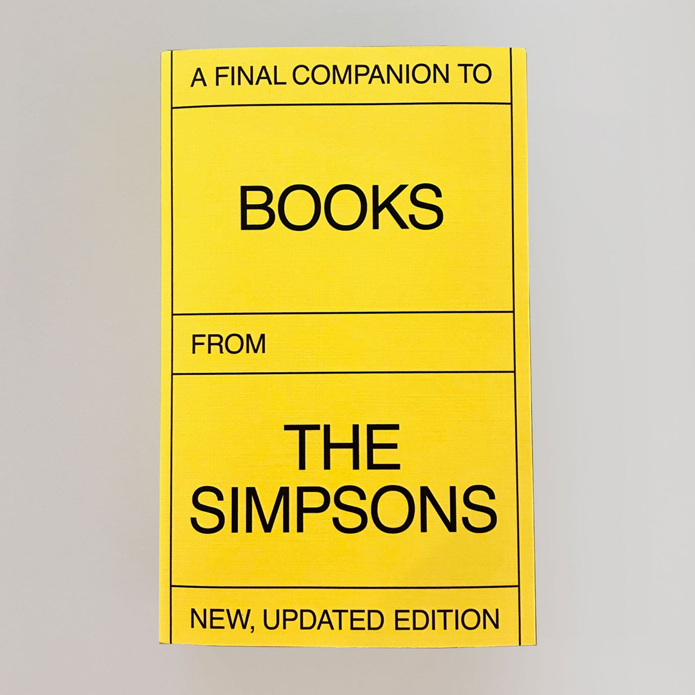 A Final Companion To Books From The Simpsons (Updated Version)