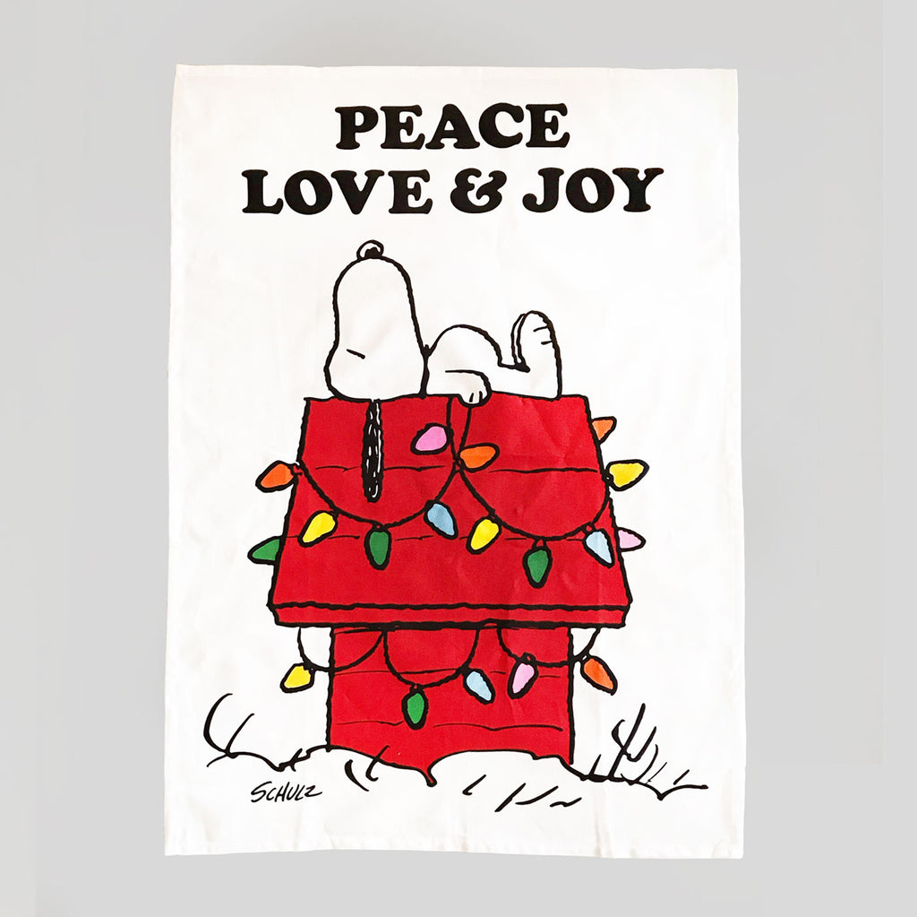 Peanuts Tea Towel - Peace, Love & Joy