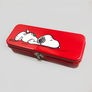 Peanuts Pencil Tin | Allergic to Mornings | Colours May Vary