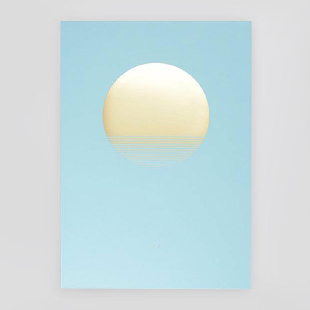 Sol Day Foiled Print- Tom Pigeon - Colours May Vary