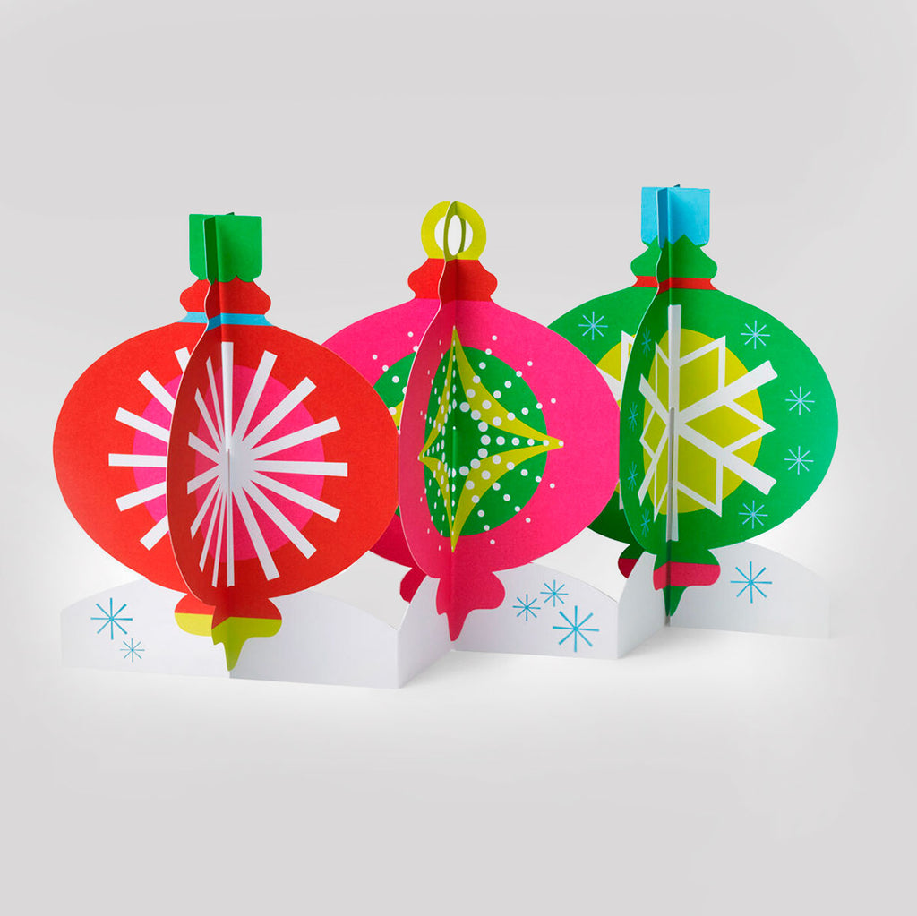 MoMA Pop-Up Holiday Card | Table Top Ornaments
