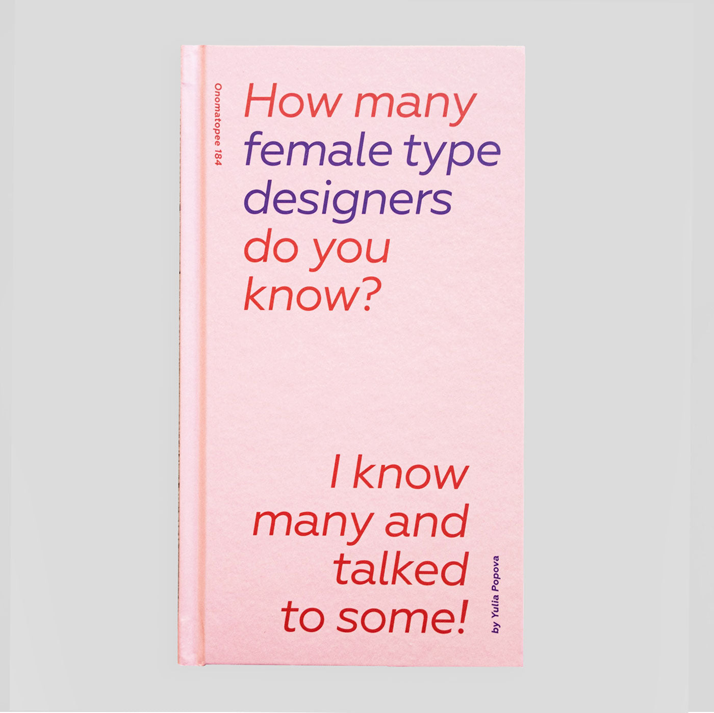 How Many Female Type Designers Do You Know? | Yulia Popova - Colours May Vary