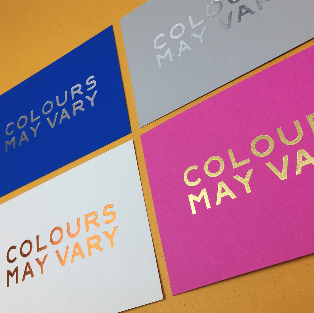 Colours May Vary Gift Voucher