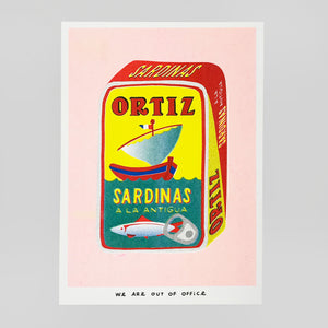 A Can Full of Sardinas Riso Print - We Are Out Of Office