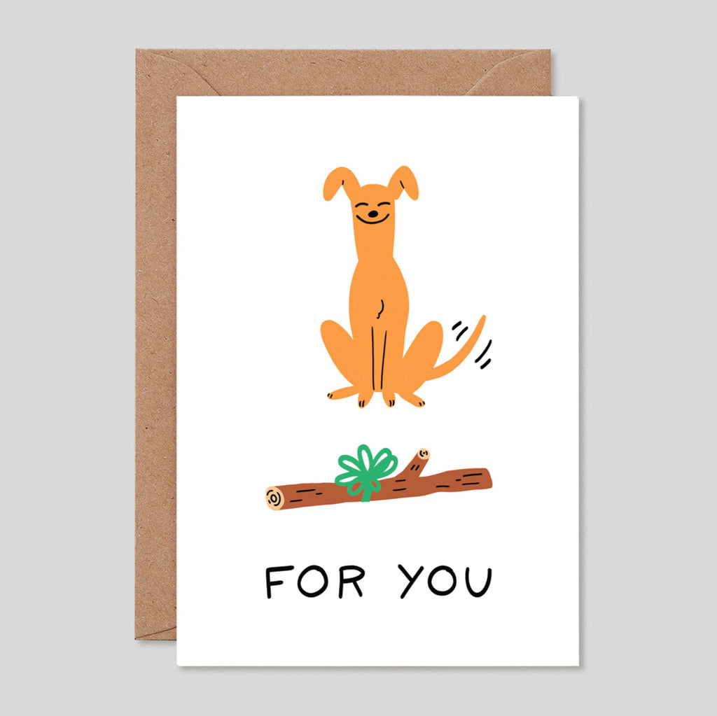 Holly St Clair For Wrap | 'For You Dog' Card