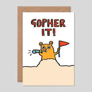 Alice Bowsher For Wrap | 'Gopher It' Card | Colours May Vary