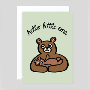 Alice Bowsher For Wrap - 'Hello Little One' Card | Colours May Vary