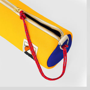 YKRA Tube Pencil Case - Yellow / Blue / Red