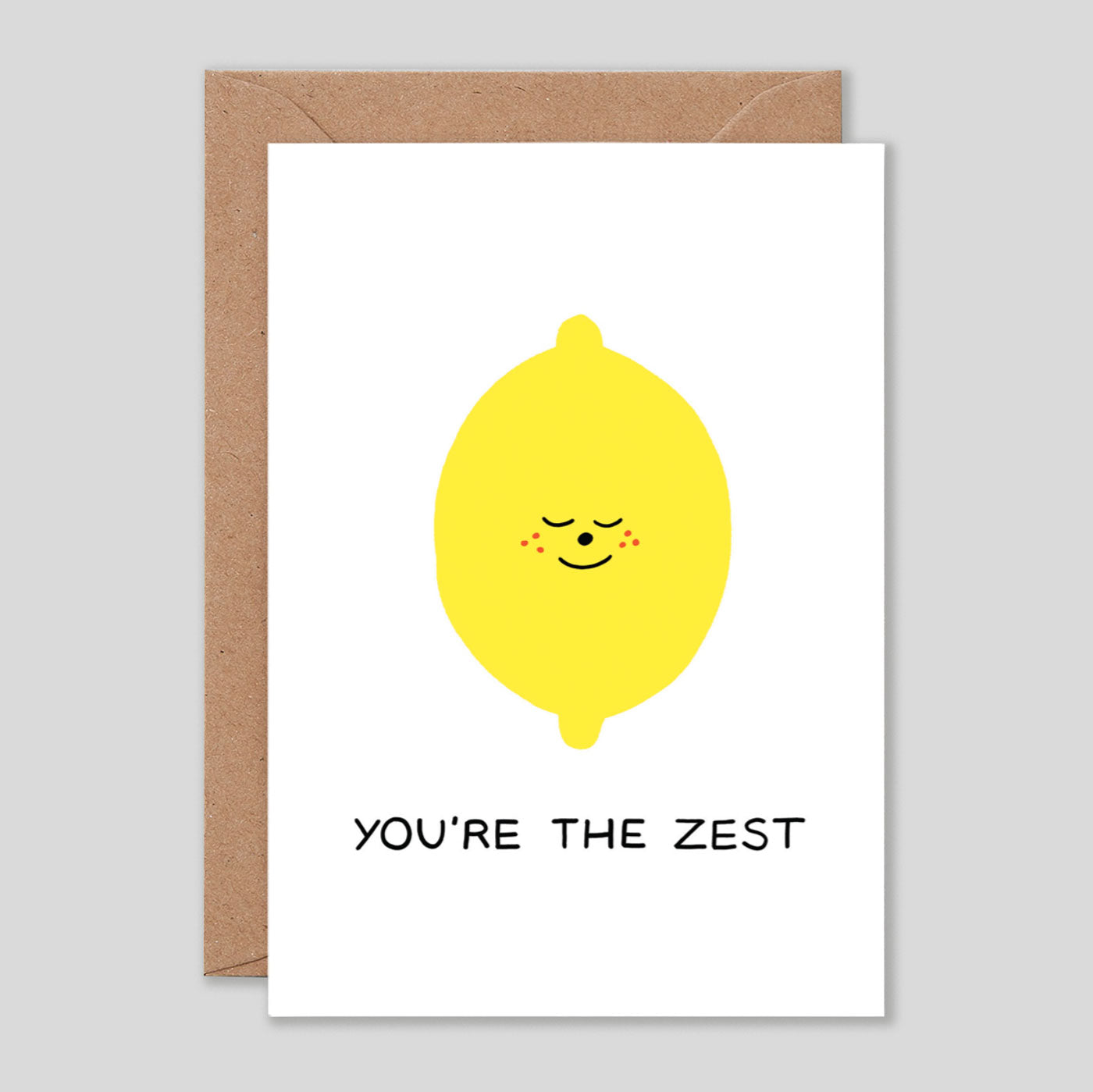 Holly St Clair For Wrap | 'You're The Zest' Card | Colours May Vary