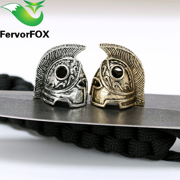 1pc Paracord Beads Metal Charms Skull For Paracord Bracelet Accessories Survival,DIY Pendant Buckle for Paracord Knife Lanyards