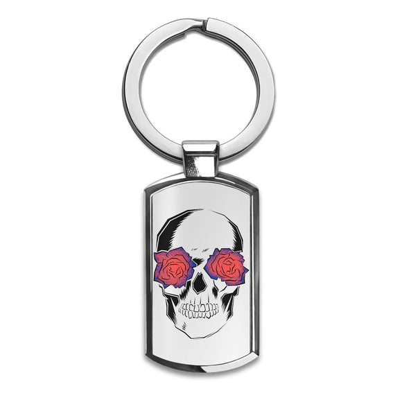Gothic Skull Premium Stainless Steel Key Ring| Enjoy A Unique  & Personalized Key Hanger To Carry Your Keys W/ Style| Custom Quality Prints| Household Souvenirs By Styleart