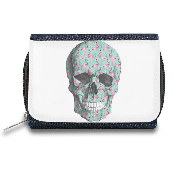 Flamingo Pattern Skull  Zipper Wallet| The Stylish Pouch To Keep Everything Organized| Ideal For Everyday Use & Traveling| Authentic Accessories By Styleart