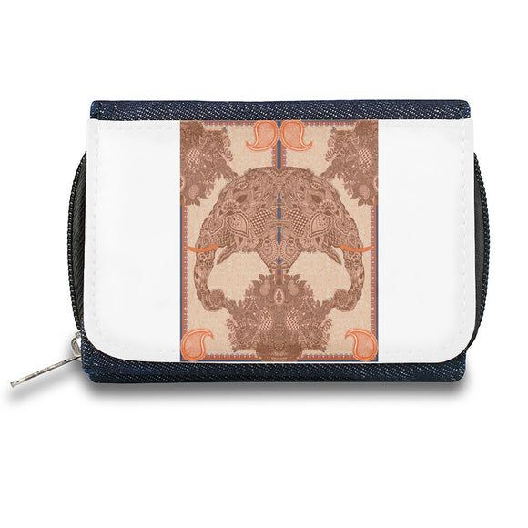 Elephant Skull Ornament   Zipper Wallet| The Stylish Pouch To Keep Everything Organized| Ideal For Everyday Use & Traveling| Authentic Accessories By Styleart