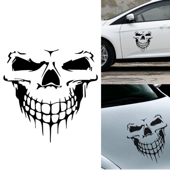 1Pcs 59x55cm Skull Head Car Sticker Engine Hood Door Window Truck Car Styling Reflective Decals and Stickers Car Accessories New